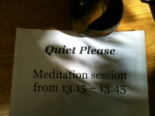 Meditation sign