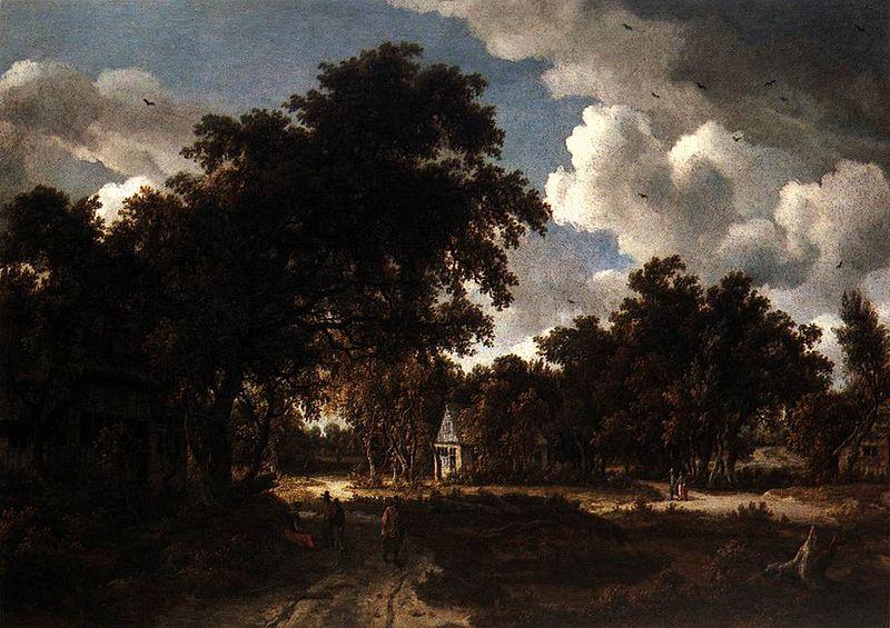 Meindert Hobbema Wooded Landscape
